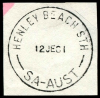 Lot 1812:Henley Beach South: - 'HENLEY BEACH STH/12JE81/SA-AUST' (LRD) on piece. [Rated R]  Renamed from Henley South PO 12/2/1966.