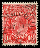 Lot 1817:Huddleston: - squared-circle 'HUDDLESTON/MY1/28/S_A' on 1½d red KGV. [Rated 2R]  PO 7/12/1903; closed 15/11/1971.