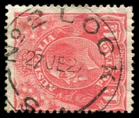 Lot 1876:No. 2 Lock: - 'NO 2 LOCK/27JE27/S.A.' on 1½d red KGV. [Rated R - the first offered by us.]  PO 7/10/1924; closed 24/12/1927.