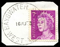 Lot 3146:Bayswater South: - 'BAYSWATER SOUTH/16AU73/WEST-AUST' on 7c QEII.  PO 19/9/1938.
