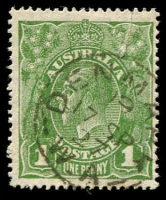 Lot 3187:Denmark (2): - framed 'DENMARK/19/17SP27/W.A' on 1d green KGV.  RO 15/2/1908; PO 2/11/1908.