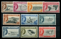 Lot 3485:1956 QEII Pictorials SG #57-66 set to 1/-, hinge rems, Cat £20. (10)