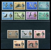 Lot 16614:1963 Birds SG #70-83 complete set of 14, Cat £60.