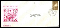 Lot 727:Essex Laboratories 1965 5c Anzac tied by Clarence Street FD cancel on magenta illustrated cover