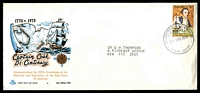 Lot 705:Royal 1970 5c Cook tied by Clarence Street FD cancel on illustrated cover