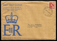 Lot 534:Sigma 1953 3½d Red QEII on illustrated cover. Melbourne 30 cancel of 21AP53. Rare, contents included.