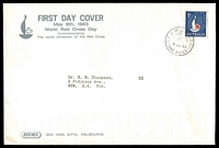 Lot 718:Sigma 1963 5d Red Cross on illustrated cover. GPO Melbourne FDI cancel of 8MAY63.