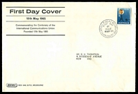 Lot 756:Sigma 1965 5d ICU on annotated cover. GPO Melbourne FDI cancel of 10MAY65.