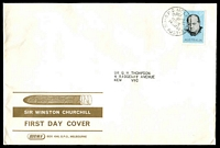 Lot 4421:Sigma 1965 5d Churchill on illustrated cover. GPO Melbourne FDI cancel of 24MAY65.