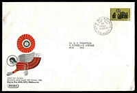 Lot 721:Sigma 1966 4c Christmas on illustrated cover. GPO Melbourne FDI cancel of 19OCT66.