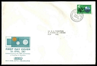 Lot 542:Sigma 1967 4c Banking on illustrated cover. Philatelic Bureau Melbourne FDI cancel of 5APR67.