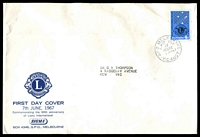 Lot 4537:Sigma 1967 4c Lions on illustrated cover. GPO Melbourne FDI cancel of 6JUN67.