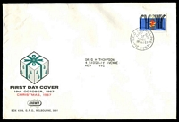 Lot 723:Sigma 1967 5c Christmas on illustrated cover. GPO Melbourne FDI cancel of 18OCT67.