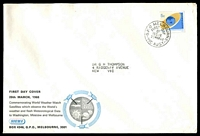 Lot 724:Sigma 1968 5c World Weather Watch on illustrated cover. GPO Melbourne FDI cancel of 20MAR68.