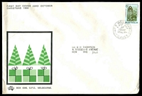 Lot 543:Sigma 1968 5c Christmas on illustrated cover. GPO Melbourne FDI cancel of 23OCT68.