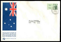 Lot 725:Sigma 1968 5c Edgeworth David Booklet Stamp on illustrated cover. GPO Melbourne FDI cancel of 6NOV68.