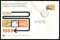 Lot 4115:Sigma 1969 5c NT Settlement on illustrated cover. GPO Melbourne FDI cancel of 5FEB69.