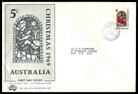 Lot 727:Sigma 1969 5c Christmas on illustrated cover. Philatelic Bureau Melbourne FDI cancel of 15OCT69.