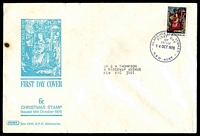 Lot 728:Sigma 1970 5c Christmas on illustrated cover (small burn). Clarence Street FDI cancel of 14OCT1970.