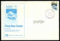 Lot 729:Sigma 1971 6c RAAF on illustrated cover (slight soiling). Chatswood FDI cancel of 9JUN1971. Contents included.