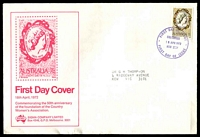 Lot 769:Sigma 1972 7c CWA on illustrated cover with stamp design. Chatswood FDI cancel of 18APR1972. Contents included.
