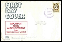 Lot 4563:Sigma 1972 7c CWA on illustrated cover with NHS announcement. Chatswood FDI cancel of 18APR1972.