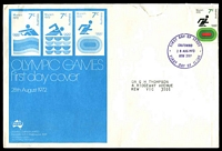 Lot 731:Sigma 1972 7c Running Olympics on illustrated cover (opened a little roughly). Chatswood FDI cancel of 28AUG1972.