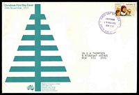 Lot 771:Sigma 1972 7c Christmas on illustrated cover. Chatswood FDI cancel of 29NOV1972.