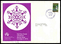 Lot 732:Sigma 1973 7c Christmas on illustrated cover. Chatswood FDI cancel of 3OCT1973.