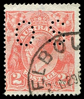 Lot 2270:2d Red Die I - BW #96c Dry ink perf 'OS', Cat $75.