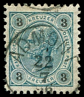 Lot 3318:Admont: 'ADMONT/22/7/96 #19b, on 3kr Black Numbers.