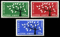 Lot 17981:1963 Europa Tree SG #224-6 set of 3, Cat £22.