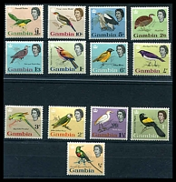Lot 3756:1963 Birds SG #193-205 complete set of 13, Cat £85.