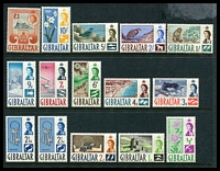 Lot 3642:1960-62 QEII Pictorials SG #160-73 complete set of 15, incl extra 2½d, Cat £80.