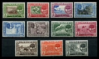 Lot 22756:1960-62 Melaka Tree SG #50-60 set of 11, Cat £35.