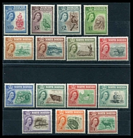 Lot 4131:1961 QEII Pictorials SG #391-406 set to $10, excl 75c, Cat £160.