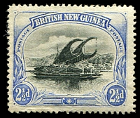 Lot 27090:1901-05 British New Guinea Wmk Horizontal SG #4 2½d black & ultramarine, MNG, Cat £38.