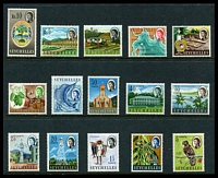 Lot 4417:1962-68 QEII Pictorials SG #196-212 original set of 15, Cat £44.