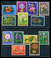 Lot 4359:1963 Flowers SG #242-54 set of 13, Cat £14.