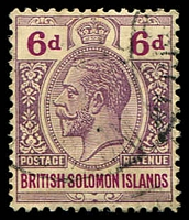 Lot 4432:1914-23 'POSTAGE REVENUE' Wmk Crown/CA SG #32 6d dull & bright purple, Cat £14.