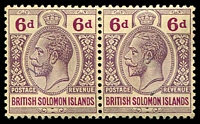 Lot 4431:1914-23 'POSTAGE REVENUE' Wmk Crown/CA SG #32 6d dull & bright purple pair, Cat £12.