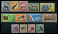 Lot 4172:1961 Decimal Pictorials Wmk Multi Arms SG #185-97 complete set of 13, Cat £22.