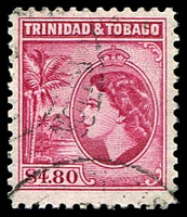 Lot 28999:1953-59 WEII Pictorials SG #278 $4.80 cerise P12, Cat £25.