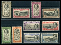 Lot 16609:1934 KGV Pictorials SG #21-30 complete set of 10, Cat £120.