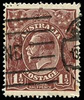 Lot 2568:1½d Brown Die I - [C78] Top pearl on left extended etc