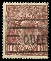 Lot 279:1½d Brown Die I: [C119] Bumps on top frame above right angle etc - State II - line outside left frame no longer present.
