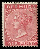 Lot 3711:1865-1903 QV Wmk Crown/CC Perf 14 SG #1-2 1d rose-red & 1d pale rose. (2)