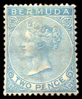 Lot 3152:1883-1904 QV Wmk Crown/CA SG #25 2d blue, light crease, Cat £75.
