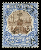 Lot 3714:1906-10 Dry Dock Wmk Multi Crown/CA SG #40 2½d brown & ultramarine.