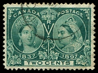 Lot 3429:1897 Jubilee Issue SG #125 2c deep green, Cat £11.